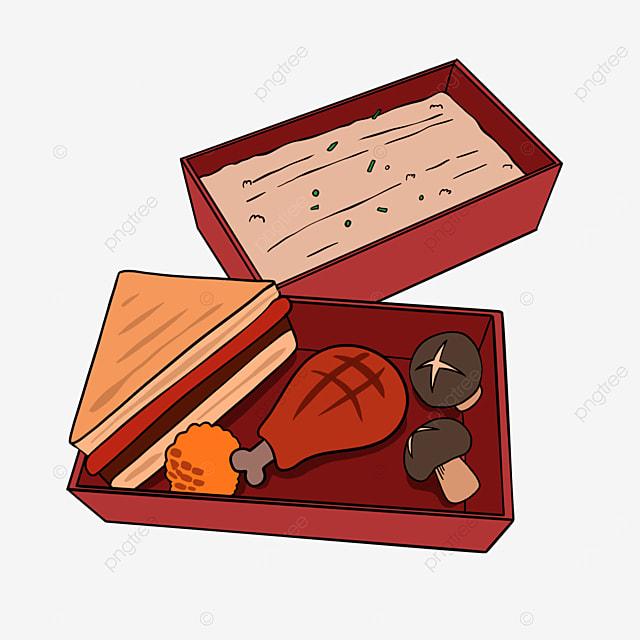 lunch clipart cartoon lunch sandwich chicken drumstick