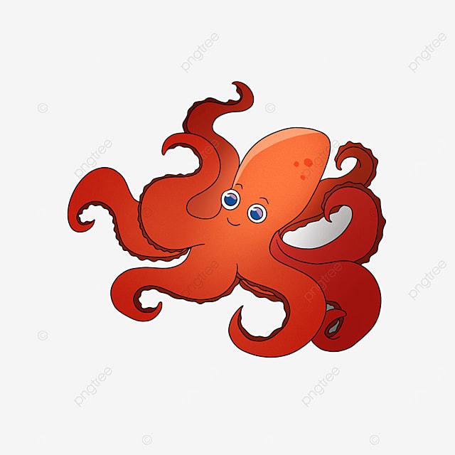 octopus clip art orange