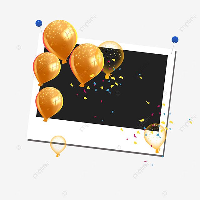 orange balloon birthday photo frame