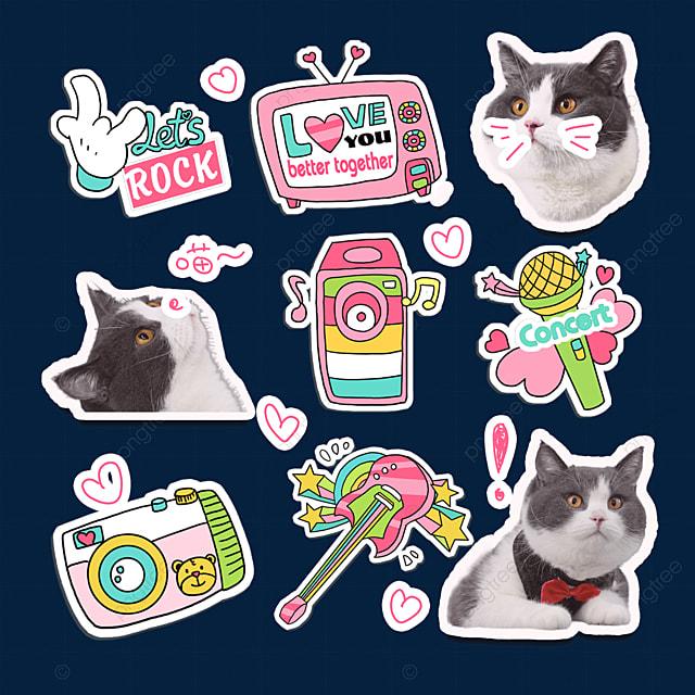 pink cat emoji pack