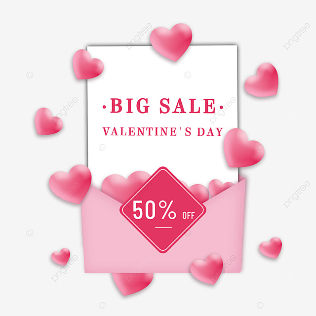 pink valentines day promotional envelope