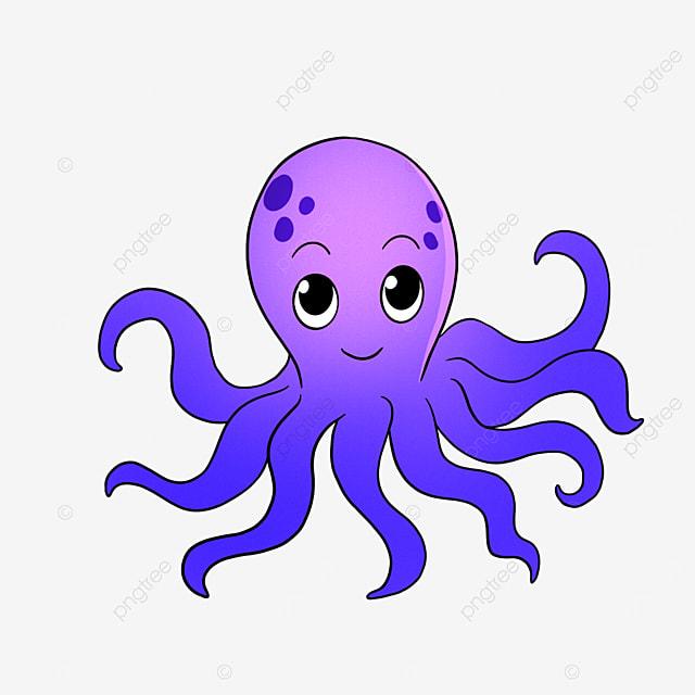 purple ocean octopus clip art