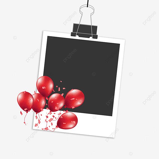 red balloon birthday photo frame