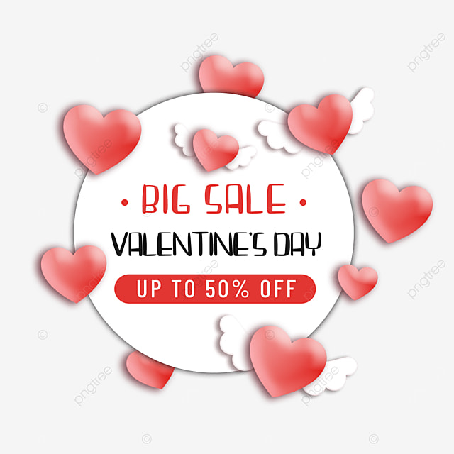 red valentines day promotion