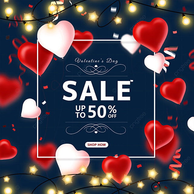 ribbon love heart light valentines day promotional label