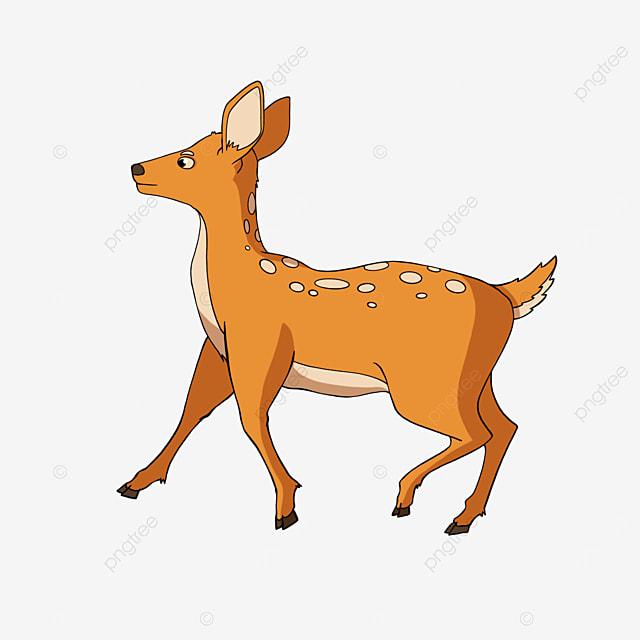 running fawn clipart cartoon style