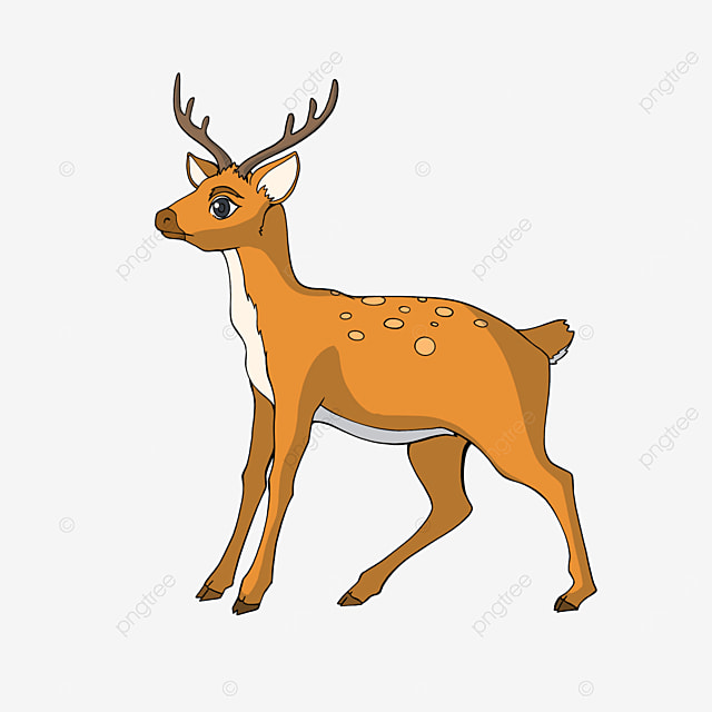 sika deer clipart cartoon style
