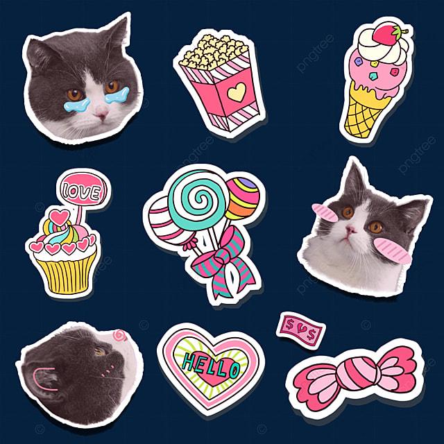 sticker cat emoji pack