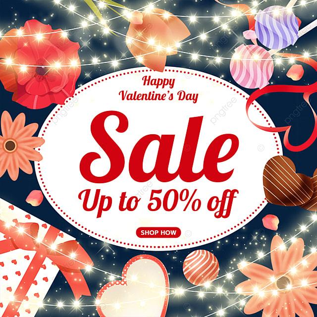 valentines day flower gift box lollipop love heart light promotion label