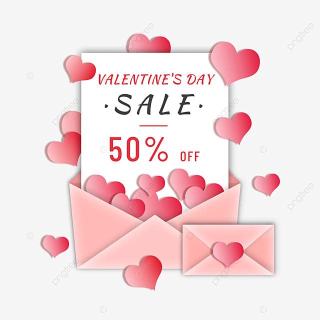valentines day love promotion envelope