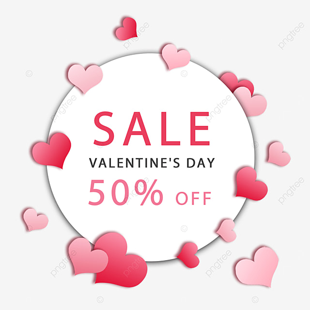valentines day love promotion pink