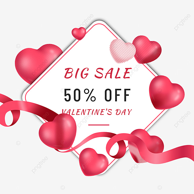 valentines day promotion love streamer