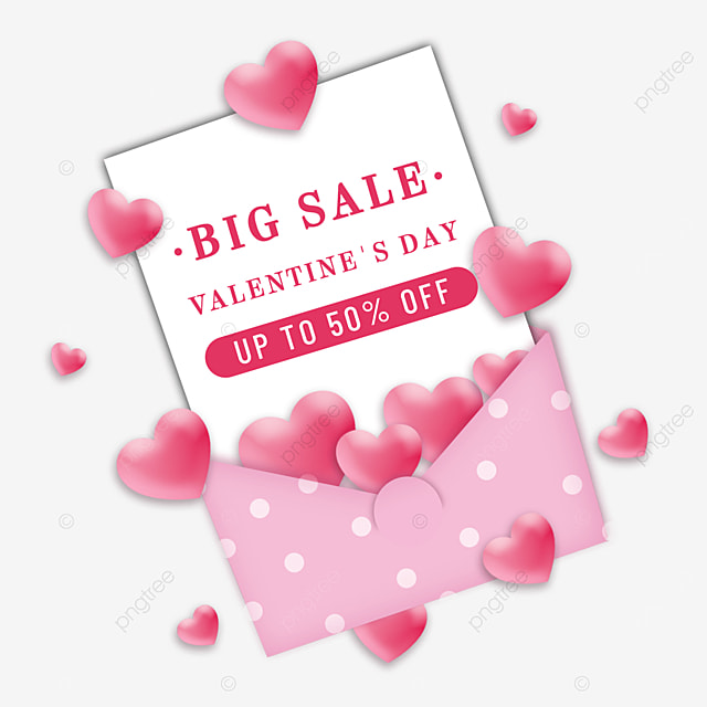 valentines day promotion pink envelope holiday