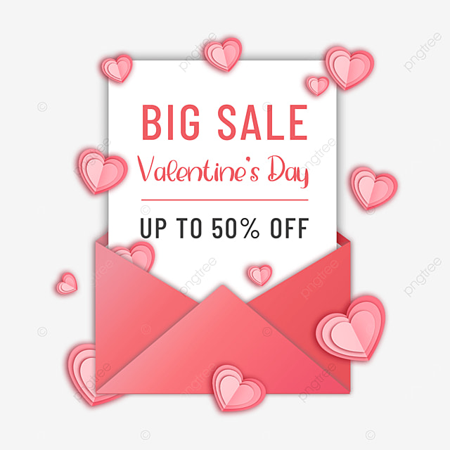 valentines day promotion pink love heart
