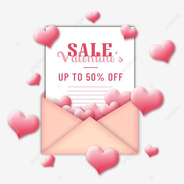 valentines day promotion pink love