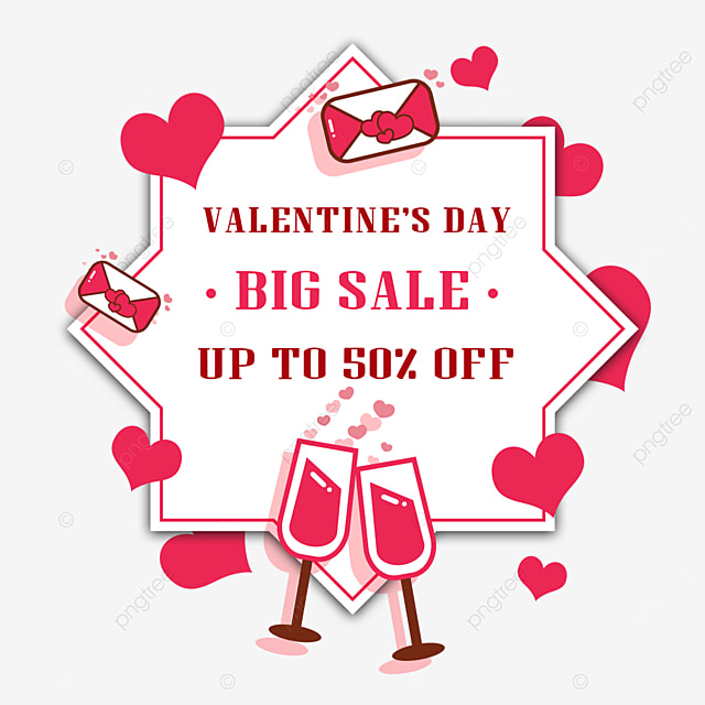 valentines day promotion pink wine glass