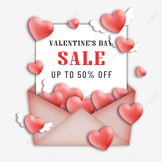 valentines day promotion red love heart