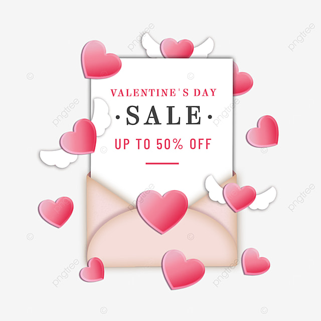 valentines day promotion wings love heart