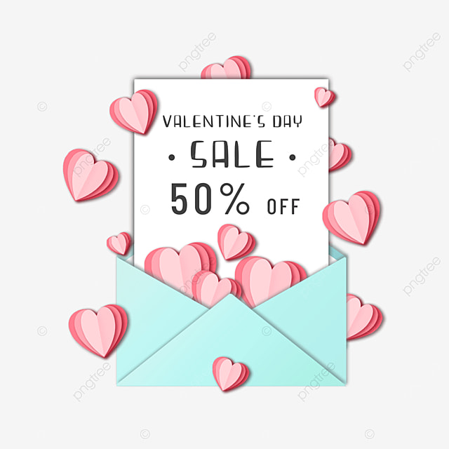 valentines day promotional envelope discount