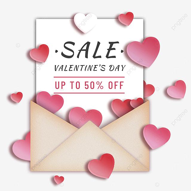valentines day promotional romantic envelope