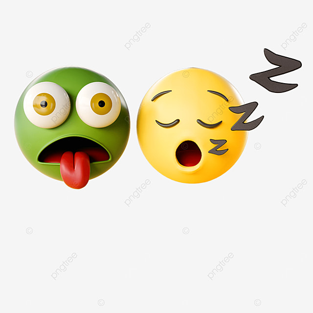3d sleeping emoji