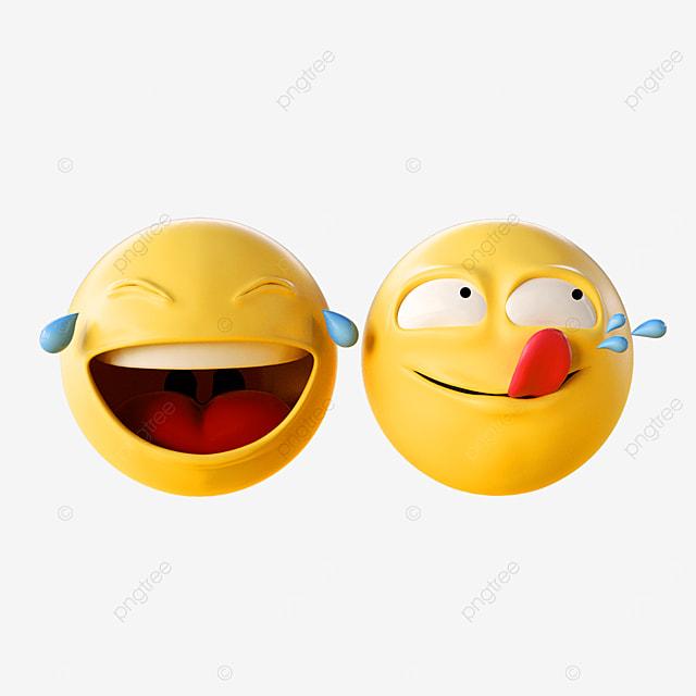 3d yellow cute emoji expression