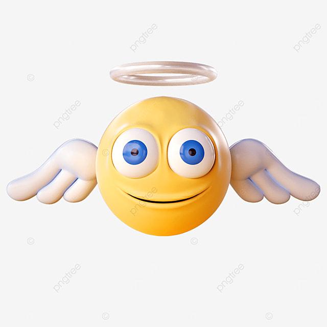angel emoji waving wings
