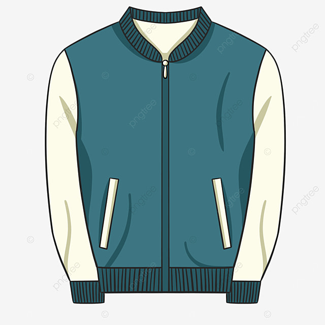 blue cartoon clothes jacket clipart