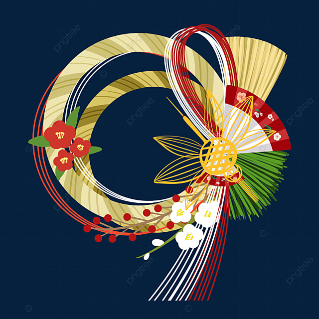 cartoon style japanese traditional decoration note rensai