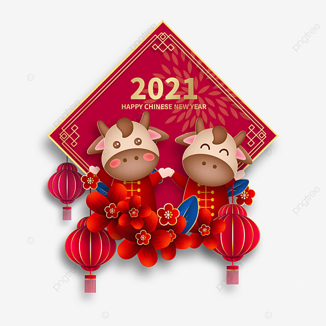chinese new year red year of the ox