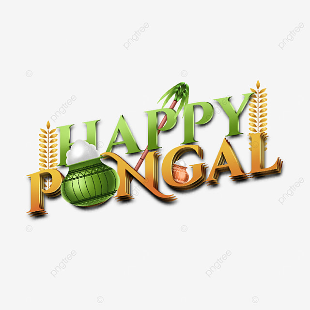 creative 3d text element for happy pongal india greeting