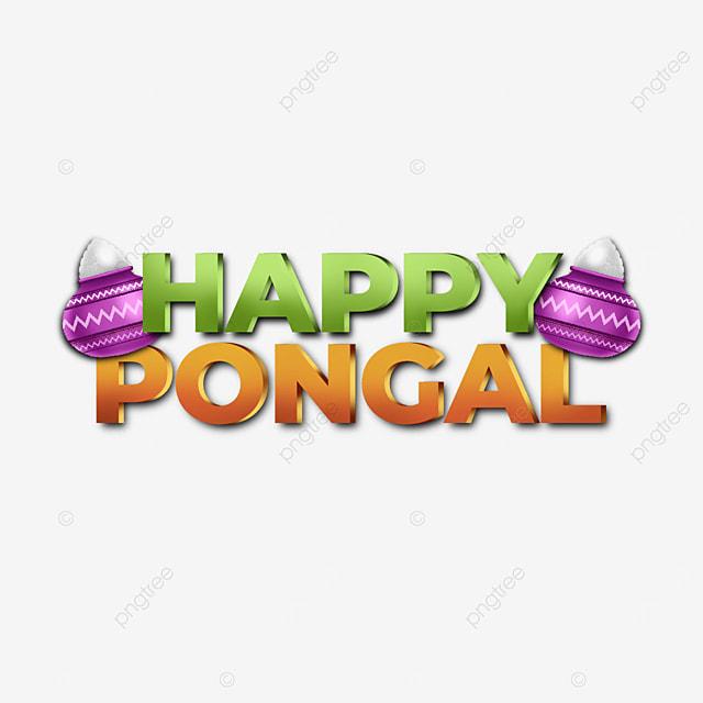 creative simple happy pongal elements