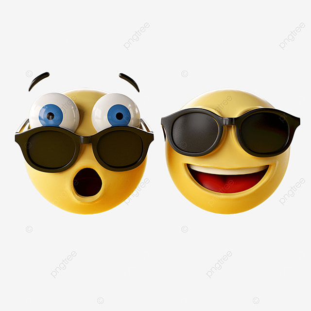 emoji with sunglasses