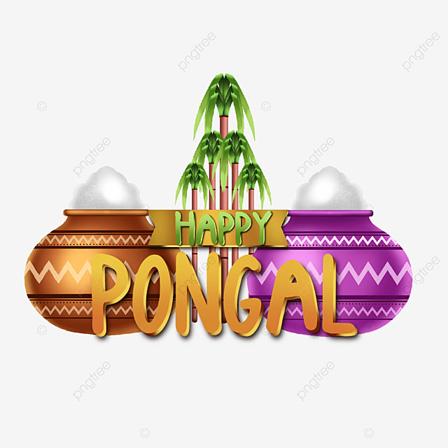 happy pongal asset decoration with attractive illustrations