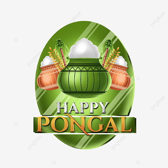 happy pongal asset decoration with green nuances