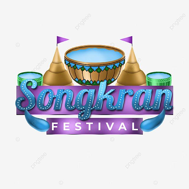happy songkran thailand greeting transparent illustration