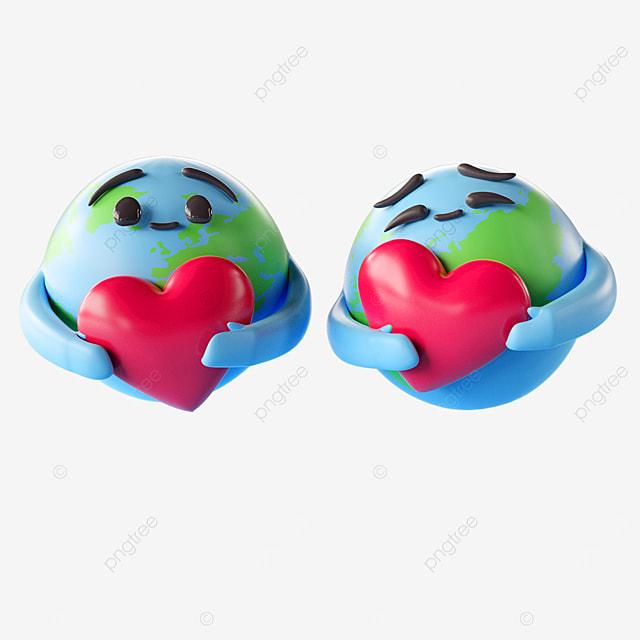 hug loving earth emoji emoji