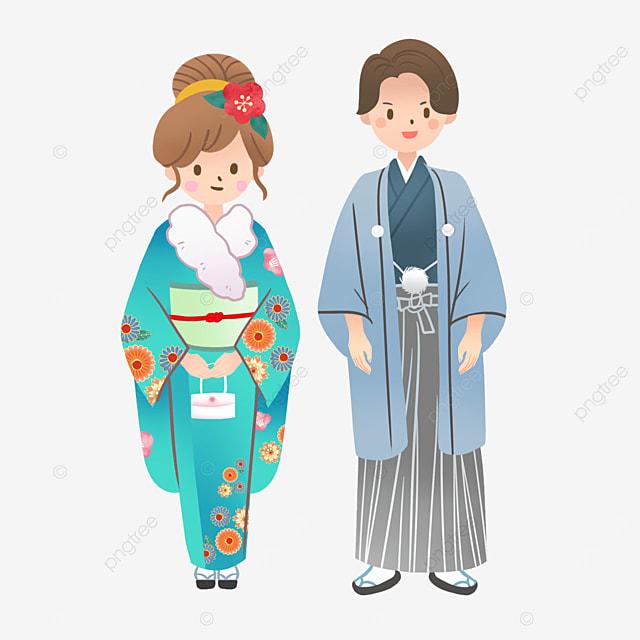 japanese coming of age ceremony winter kimono costumes