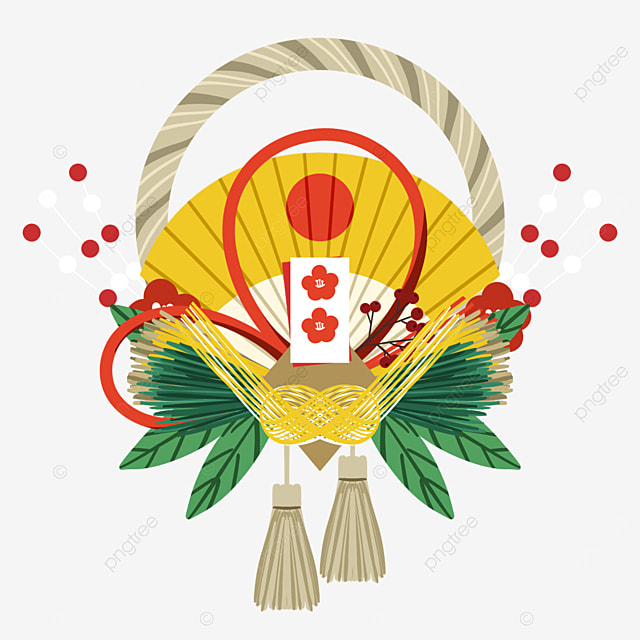 japanese new year festival traditional decoration note renawa