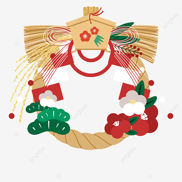 japanese new years traditional decoration shimenwa