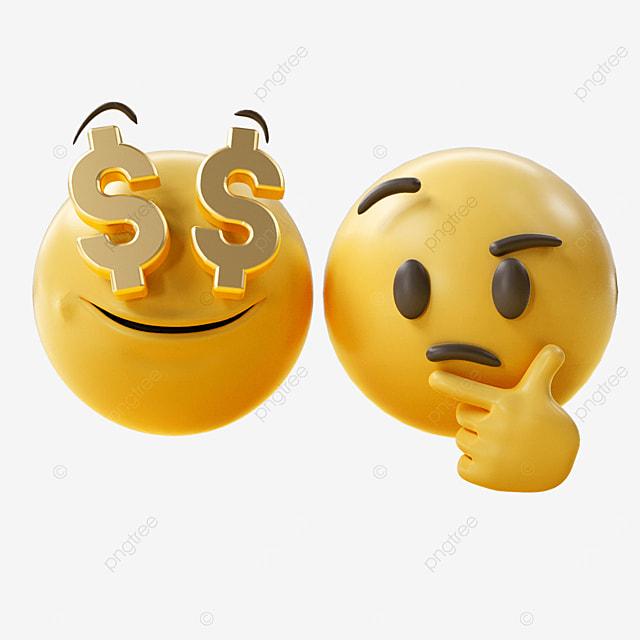 money three dimensional emoji