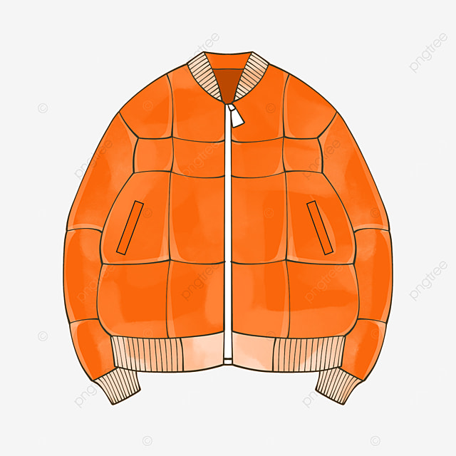 orange jacket clip art