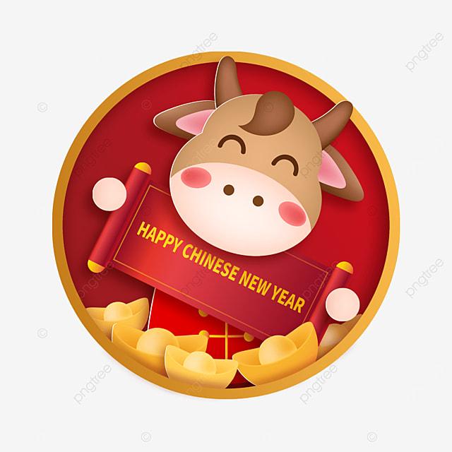 ox year cartoon happy new year