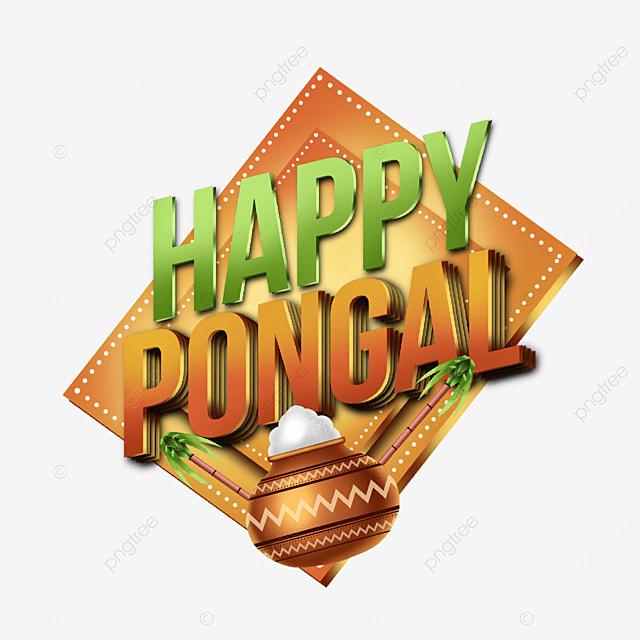 shiny 3d happy pongal asset decoration