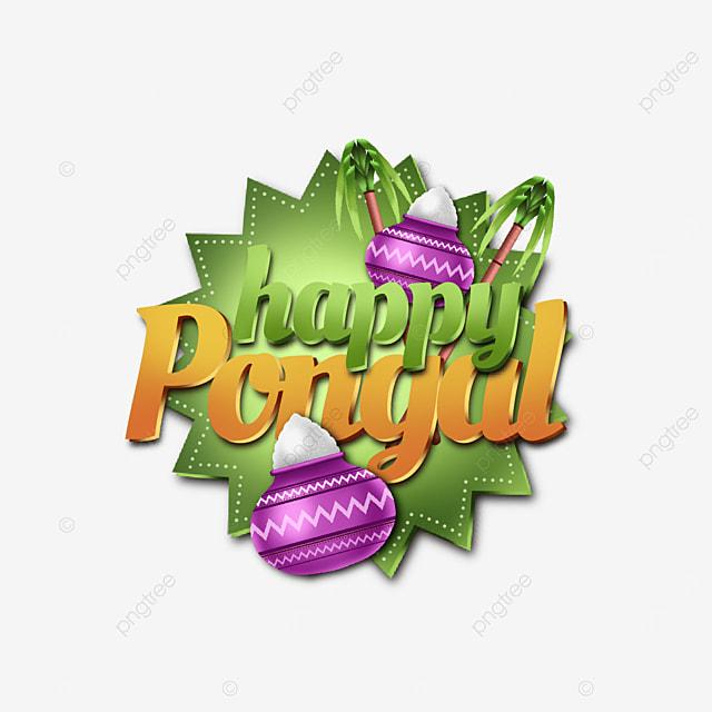unique and attractive label happy pongal