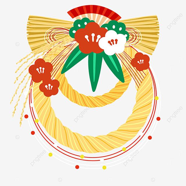 yellow japanese traditional decoration note renawa