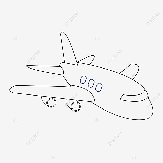 aerospace aircraft clipart black and white