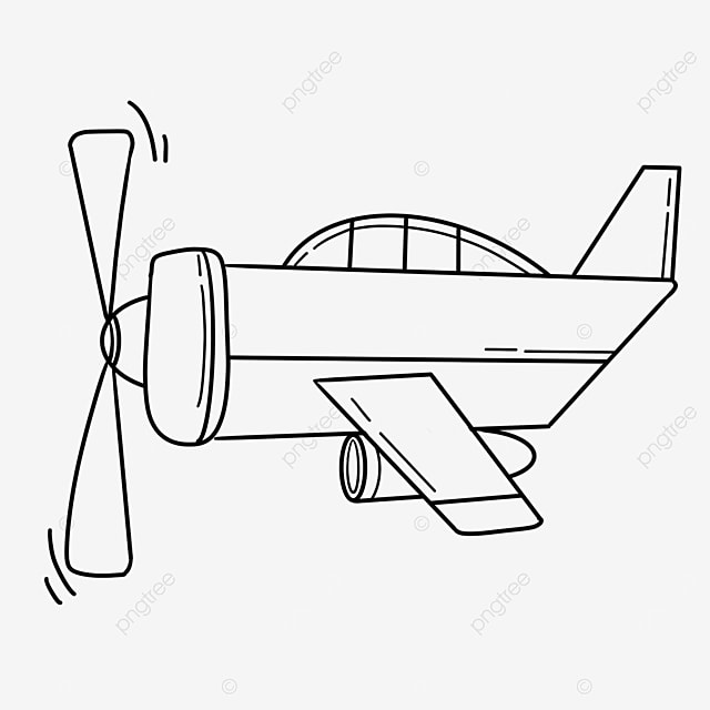 bloated aircraft clipart black and white