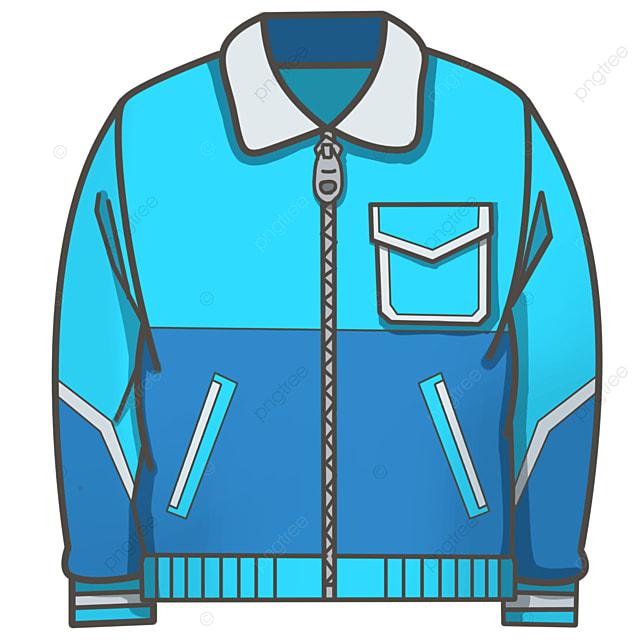 blue jacket coat clip art