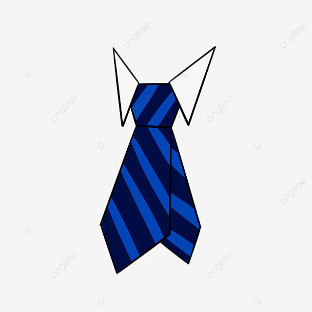 blue striped tie clipart